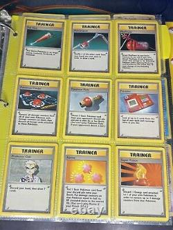 Pokemon Card Complete 102/102 Base Set 20 Year Old Collection With Binder