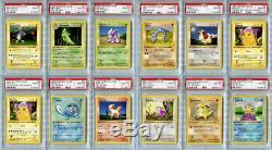 Pokemon Card Complete 1st Edition Shadowless Base Set 103/102, PSA 10 Gem Mint