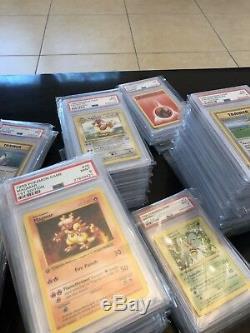 Pokemon Card PSA Graded 1st Edition Shadowless Complete Base Set 1-102 Full Rare