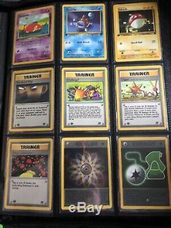 Pokemon Cards 1st Edition Team Rocket Set Complete Non Holo Set Mint PSA 10