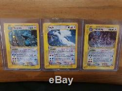 Pokemon Cards Aquapolis Complete Set Including All Holos & Crystal Cards