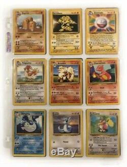 Pokemon Cards Base Set 100% Complete Charizard Blastoise Venusaur Holos /102