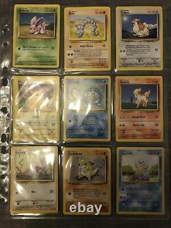 Pokemon Cards Original Base Set Complete 102/102 (Rare) Charizard, Blastoise