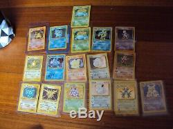Pokemon Cards Unlimited 1999 Complete Base Set Holo Charizard, Blastoise