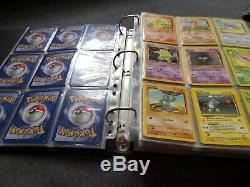 Pokemon Cards binder Bundle complete Base Set, Jungle, Base 2, Fossil, Team Rocket