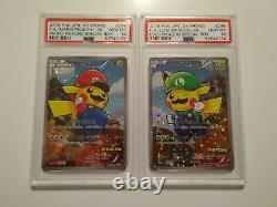 Pokemon Center Japanese Exclusive Mario Luigi Pikachu PSA 10 Complete 4-Card Set