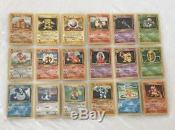 Pokemon Complete Base Set 102/102 Charizard 4/102 Unlimited Blastoise 2/102 Card