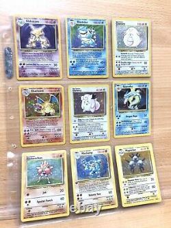 Pokemon Complete Original Base Set 102/102 Cards WOTC Charizard, Blastoise