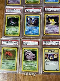 Pokemon Complete Psa 10 1st Edition Rocket Set All Cards 83/82 Charizard, Raichu