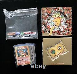 Pokemon Japanese Pikachu CD Promo COMPLETE Card Set CHARIZARD Venusaur BLASTOISE