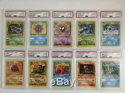 Pokemon PSA 10 Fossil COMPLETE Non-Holo Set #16-64 1st Edition 47 Cards Total