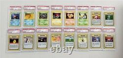 Pokemon Psa 10 1st Edition Complete Base Set 1-102 Blowout Cards Gem Mint