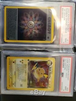 Pokemon Team Rocket 1st Ed Complete Holo Set 18 cards PSA 9 Charizard Blastoise