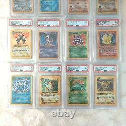 Psa 9 Mint Complete Shadowless Holo Base Set Pokemon Cards 1-16 Charizard Lot