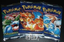 SEALED 3X Base Set Packs Set (WEIGHED LIGHT) Complete Art Set Pokemon Card