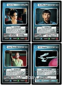 STAR TREK CCG 1E MIRROR MIRROR COMPLETE 131 CARD SET With UR FIRST OFFICER SPOCK