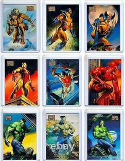 SUPER RARE! 1996 Marvel Masterpiece Complete Card Set 1-100