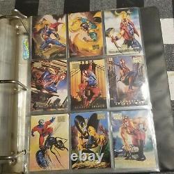 SUPER RARE! 1996 Marvel Masterpiece Complete Card Set 1-100 NM