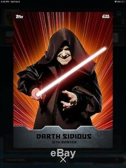 Star wars card trader JEDI SITH WARRIORS complete set 35cc AHSOKA VADER LUKE JSW