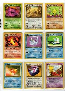 TEAM ROCKET 1st Edition Complete Common and Uncommon Set NM or Better 48 Cards