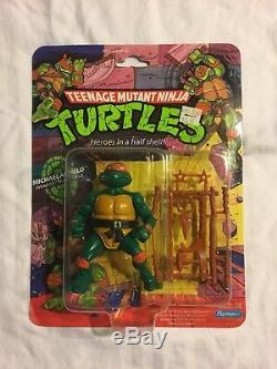 TMNT Teenage Mutant Ninja Turtles 1988 Complete Set of Carded Turtles MOC