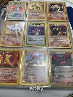Vintage 1995-2000+ Pokemon Card Lot 90 Holo + All original Complete Base Set