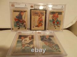 Vintage PARKHURST NHL 1953-54 COMPLETE HOCKEY CARD SET. 67 YEAR VINTAGE